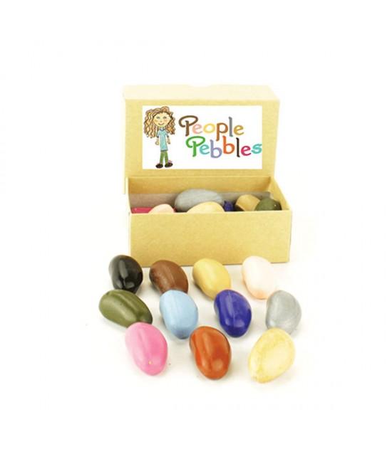 12 creioane Crayon Rocks People Pebbles naturale - în cutiuță