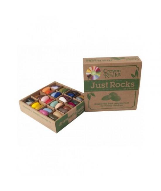 64 creioane Crayon Rocks naturale - în cutie - 32 culori