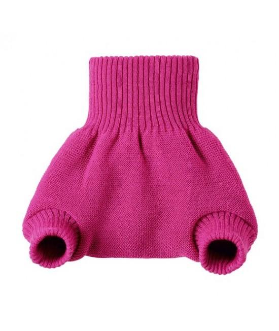 Pantalonași-protecție-de-scutec Disana din lână Merino organică roz zmeură
