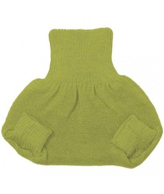 Pantalonași-protecție-de-scutec Disana din lână Merino organică verde
