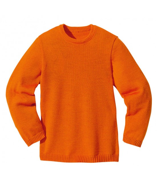 Pulover din lână Merino organică Disana Orange