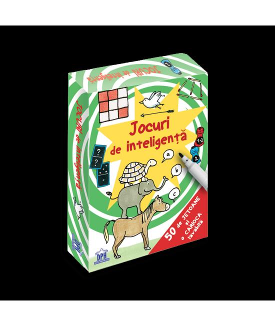 Jocuri de inteligență - 50 de cartonașe laminate + o cariocă scrie-șterge