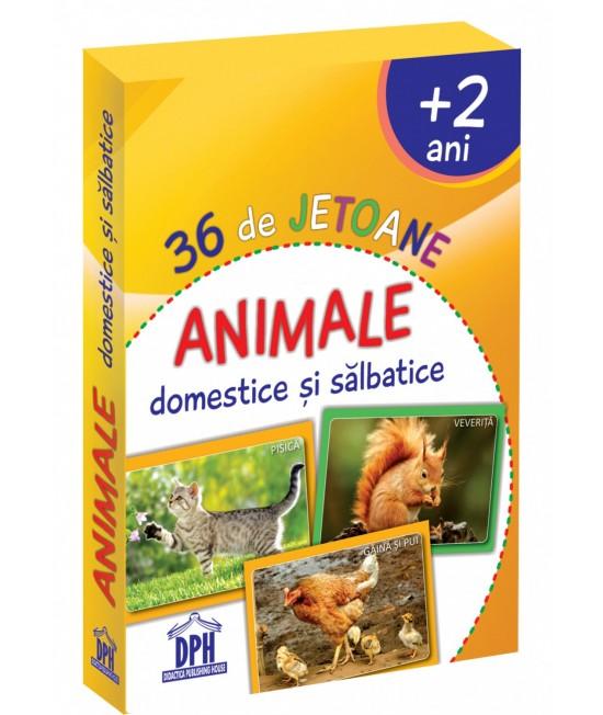 36 Cartonașe Animale domestice și sălbatice