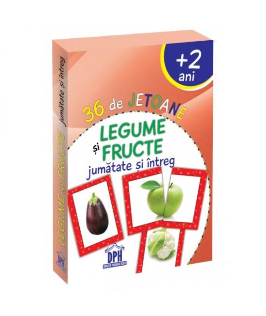 36 Cartonașe Legume și Fructe, jumătate și întreg