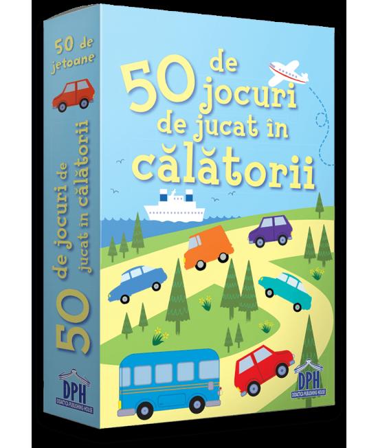 50 de jocuri de jucat în călătorii - Cartonașe Usborne în limba română