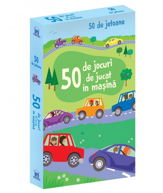 50 de jocuri de jucat în mașină - Cartonașe Usborne în limba română