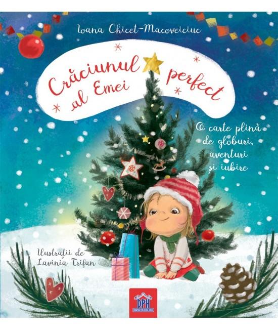 Crăciunul perfect al Emei - Ioana Chicet-Macoveiciuc - carte complet cartonată pentru bebeluși