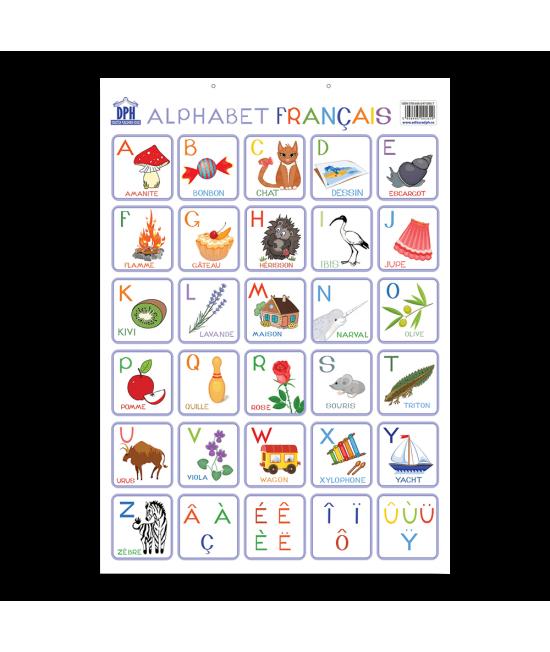 Planșă - Alfabetul ilustrat al limbii franceze