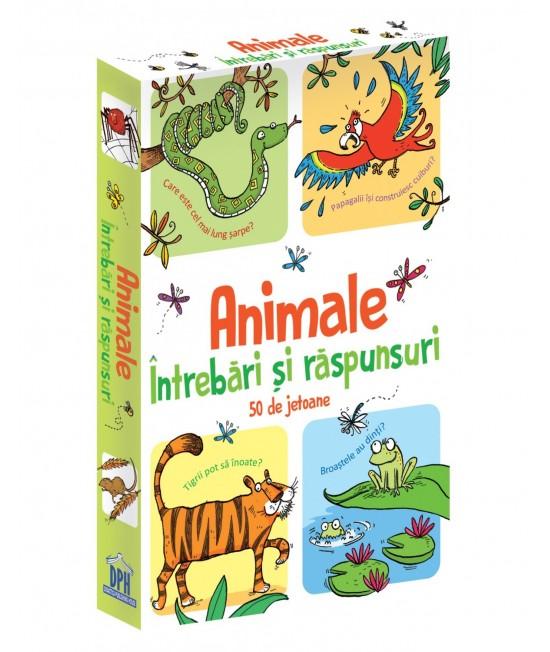 Animale - Întrebări și răspunsuri - 50 Cartonașe Usborne în limba română