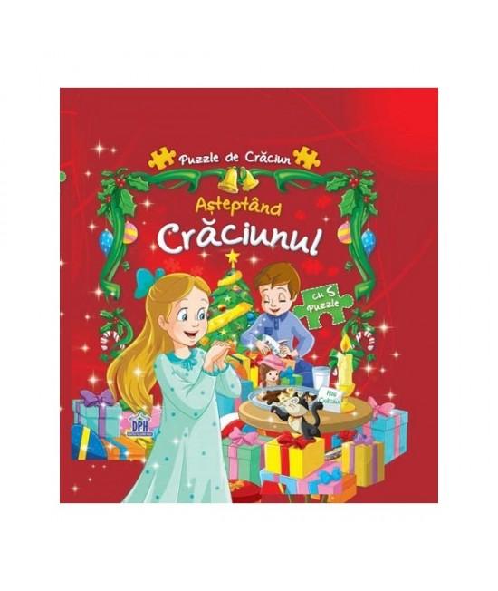 Așteptând Crăciunul - Carte cu 6 puzzle-uri