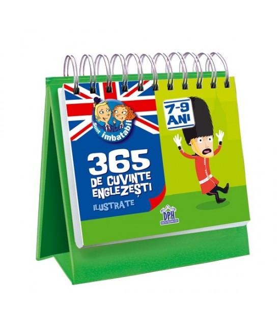 Calendar pentru copii - 365 de cuvinte englezești ilustrate - pentru 7-9 ani