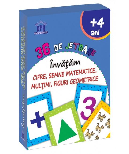 36 Cartonașe Învățăm Cifre, Semne Matematice, Mulțimi, Figuri geometrice