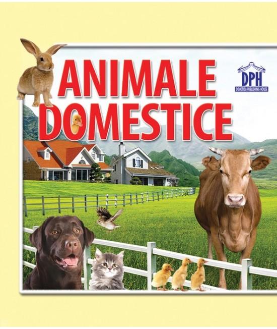 """Animale domestice - carte cartonată """"acordeon"""" pentru bebeluși și copii mici"""