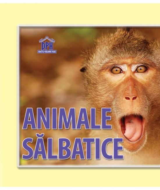 """Animale sălbatice - carte cartonată """"acordeon"""" pentru bebeluși și copii mici"""