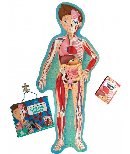 Corpul uman - Călătorește, învață, explorează - puzzle + carte - Matteo Gaule