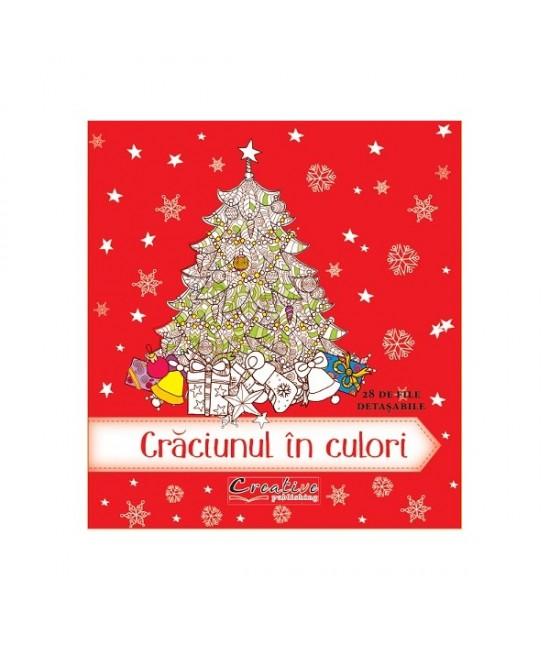 Crăciunul în culori - carte de colorat pentru copii și adulți