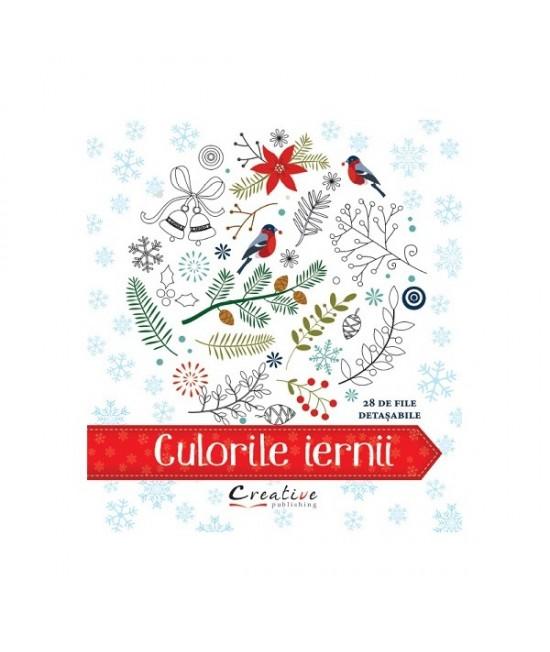 Culorile iernii - carte de colorat pentru copii și adulți