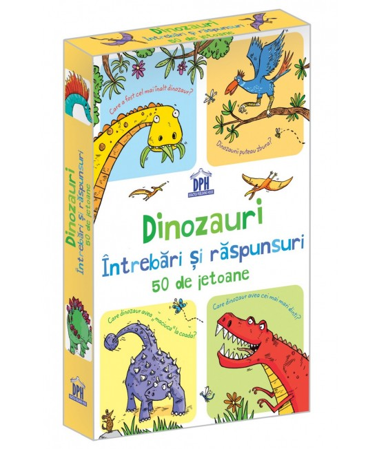 Dinozauri - Întrebări și răspunsuri - 50 Cartonașe Usborne în limba română