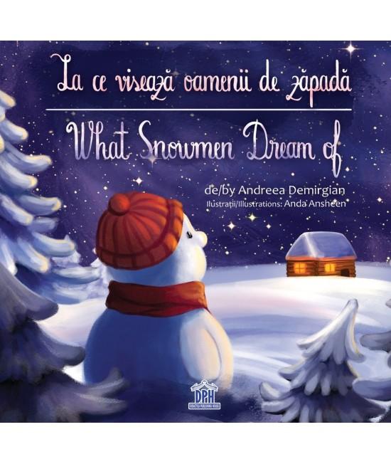 La ce visează oamenii de zăpadă - Andreea Demirgian și Anda Ansheen - carte bilingvă română-engleză