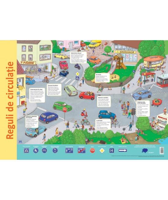 Planșă - Reguli de circulație