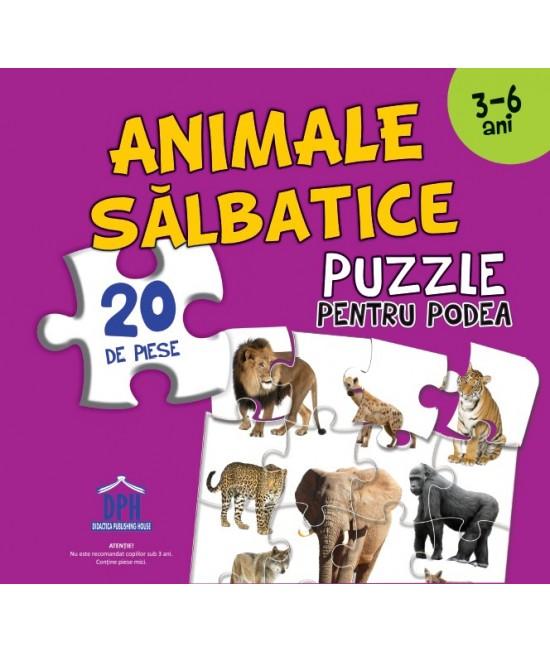 Puzzle pentru podea - ANIMALE SĂLBATICE