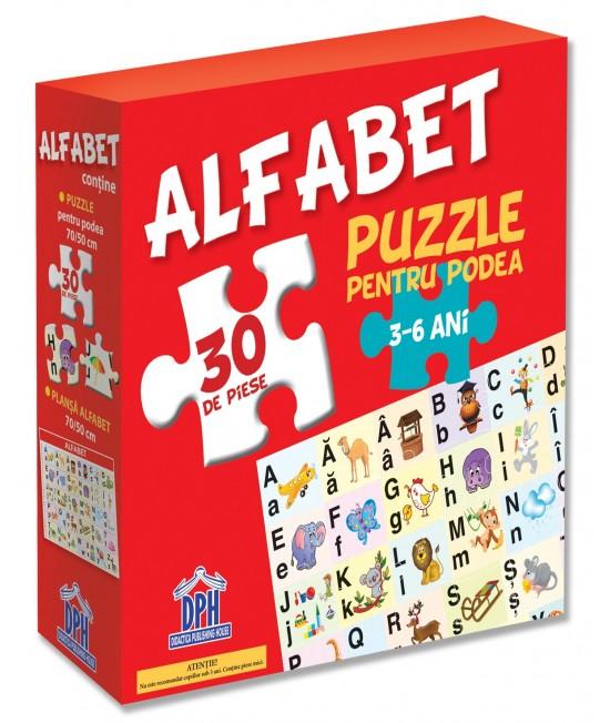 Puzzle pentru podea - ALFABETUL