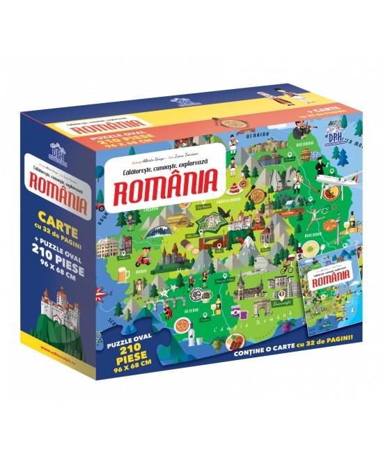 România - Călătorește, învață, explorează - puzzle + carte