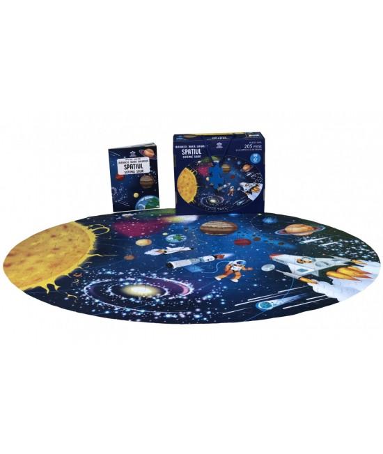 Spațiul, Sistemul Solar - Călătorește, învață, explorează - puzzle + carte - Matteo Gaule și Nadia Fabris