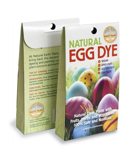 Vopsea pentru ouă Earth Paint - naturală, ecologică, sigură, non-toxică, fără gluten