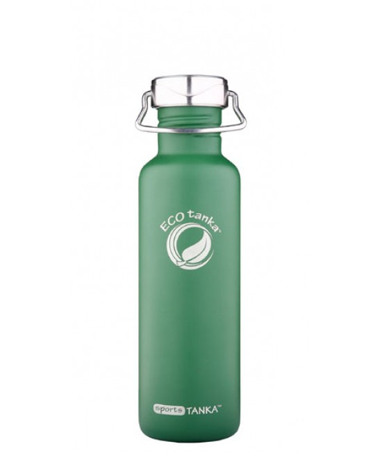 Butelie din inox verde retro ECOtanka sportsTANKA 800ml - cu capac din inox