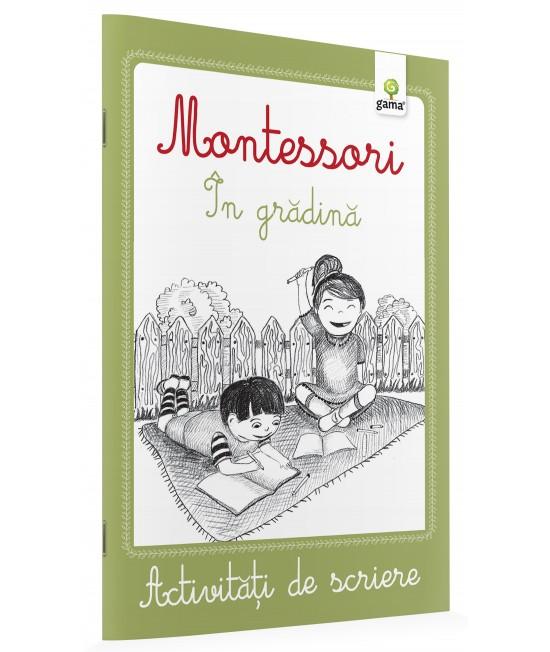 În grădină - Activități de scriere Montessori