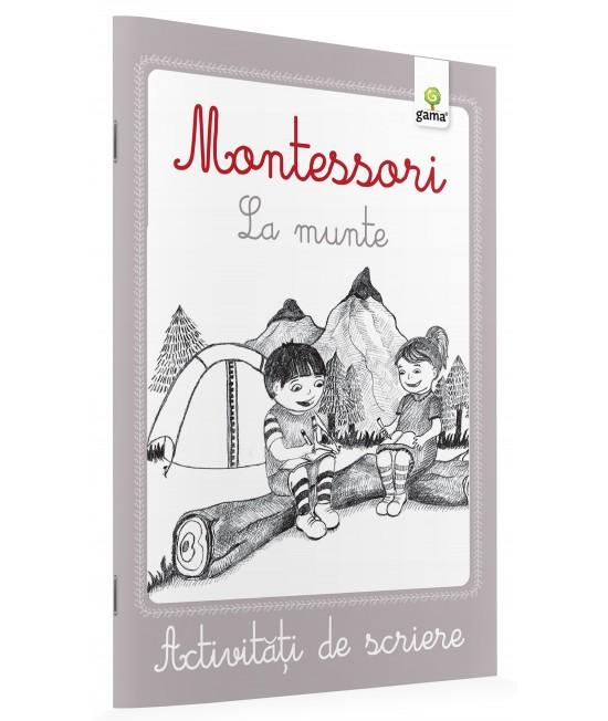 La munte - Activități de scriere Montessori