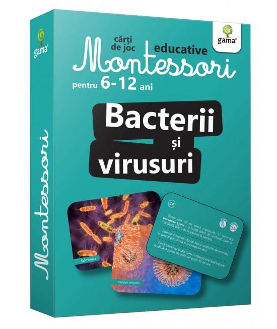 Bacterii și virusuri - Cărți de joc educative Montessori pentru 6-12 ani