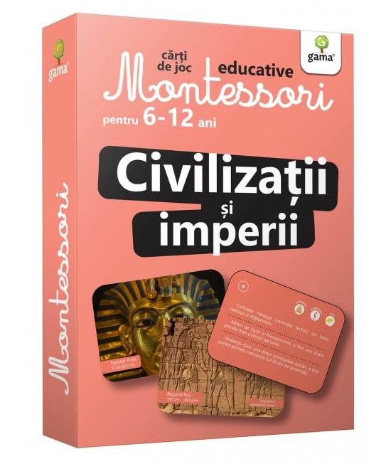 Civilizații și imperii - Cărți de joc educative Montessori pentru 6-12 ani