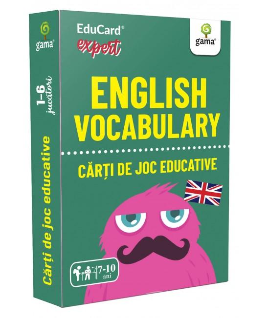 English Vocabulary - Cărți de joc educative Educard Expert