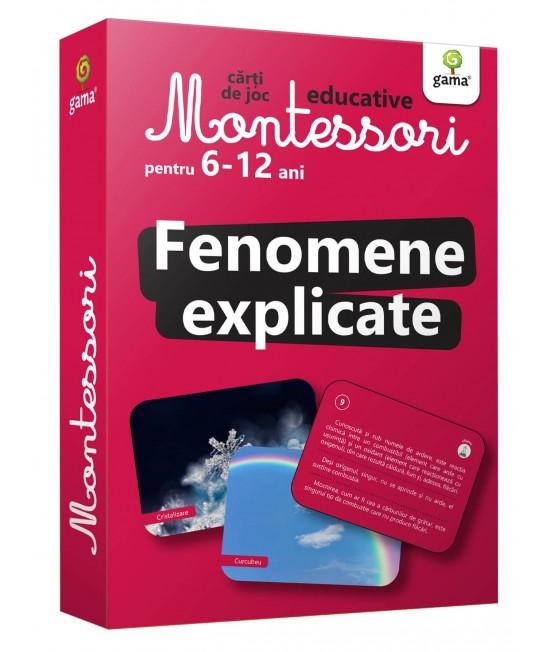 Fenomene explicate - Cărți de joc educative Montessori pentru 6-12 ani
