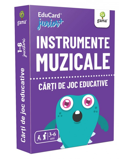Instrumente muzicale - Cărți de joc educative - EduCard Junior