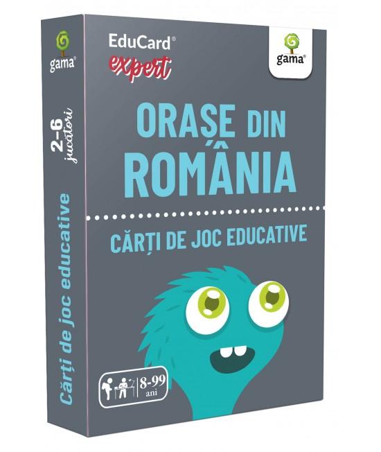 Orașe din România - Cărți de joc educative - EduCard Expert