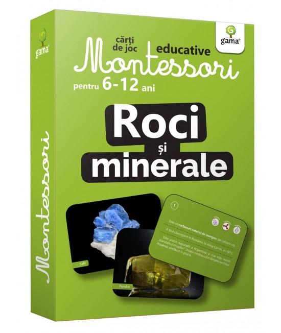 Roci și minerale - Cărți de joc educative Montessori pentru 6-12 ani