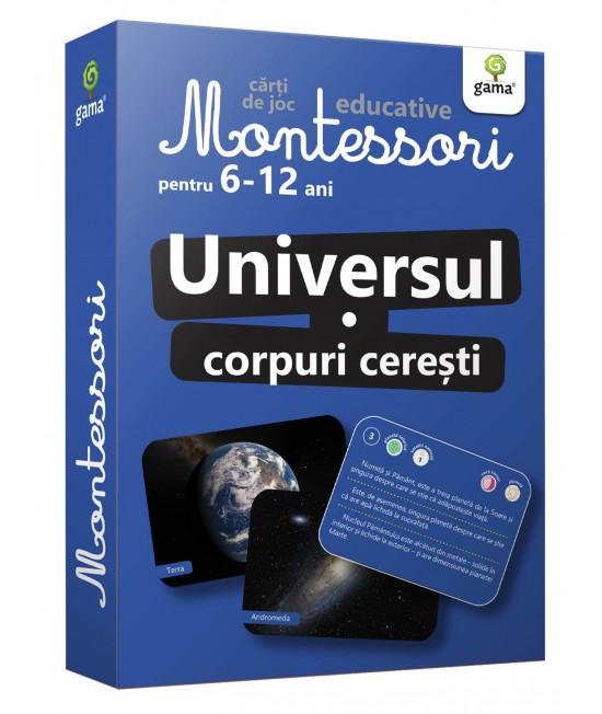 Universul. Corpuri cerești - Cărți de joc educative Montessori pentru 6-12 ani