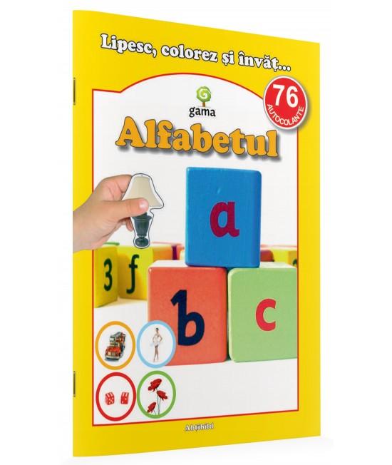Alfabetul - Colecția Abțibild - Lipesc, colorez și învăț