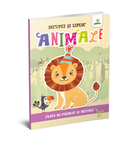 Animale - Colorez, decupez și lipesc!