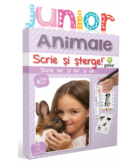 Animale - Scrie și șterge - Junior
