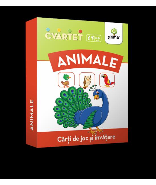 Animale - Cvartet - Cărți de joc și învățare