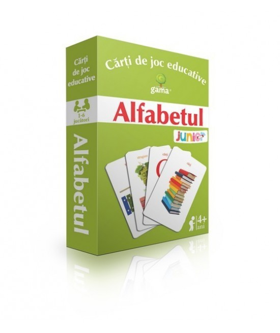 Alfabetul - Cărți de joc educative - EduCard Junior