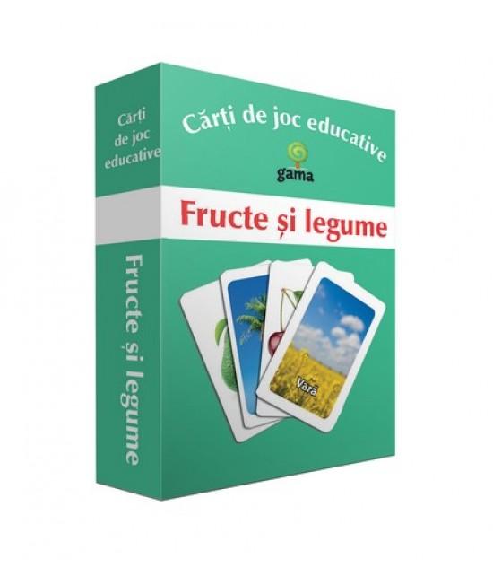 Fructe și legume - Cărți de joc educative