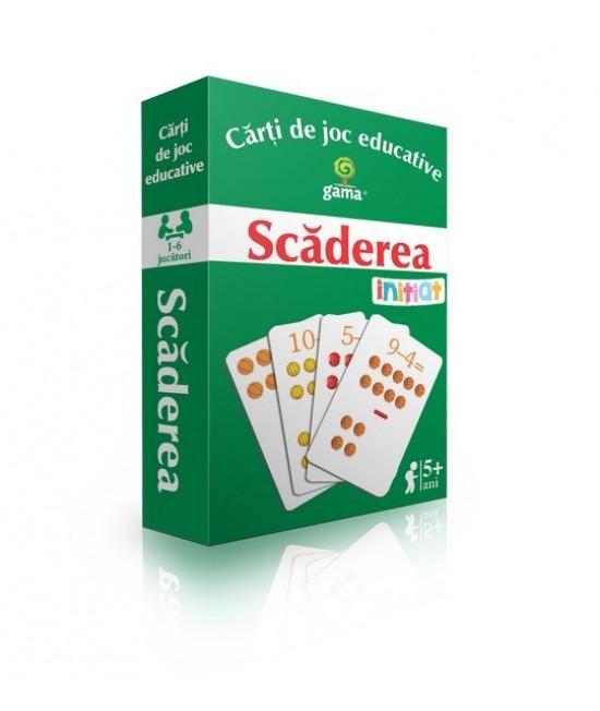 Scăderea - Cărți de joc educative - EduCard Inițiat
