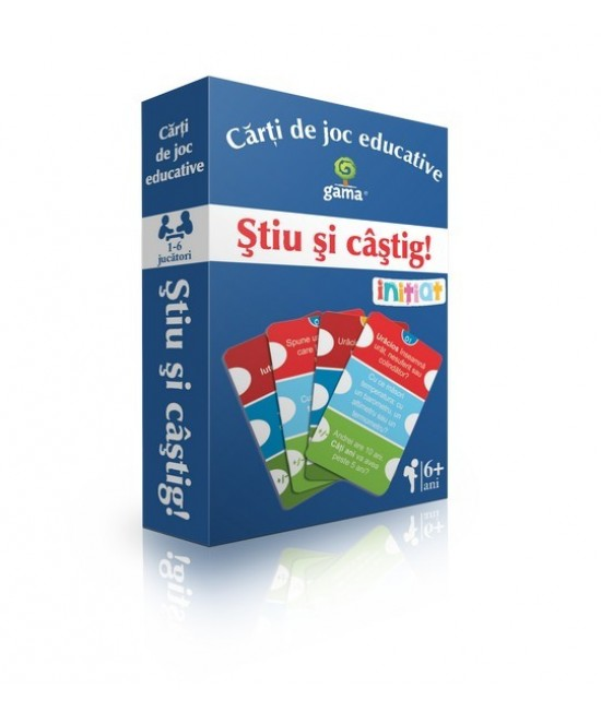 Știu şi câştig! - Cărți de joc educative - EduCard Inițiat
