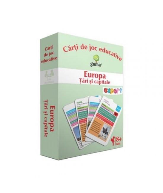 Europa. Țări şi capitale - Cărți de joc educative - EduCard Expert
