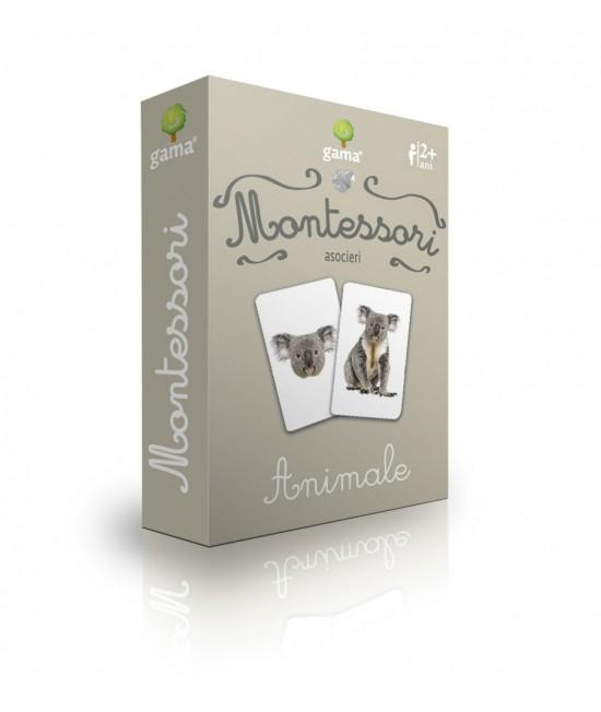 Animale - Cărți de joc bilingve Montessori - Asocieri